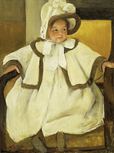 Mary Stevenson Cassatt, Ellen Mary in a white coat c. 1896, oil on canvas.