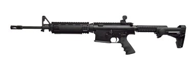 An Armalite assault rifle similar to one Graham Leslie White had in his home.
