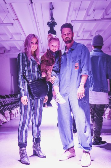 Catwalk family life - the Simpson d'Alessandros.