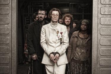 Tilda Swinton helps to keep the poor in check in Snowpiercer.