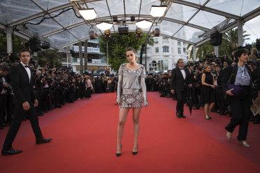 Kristen Stewart at the premiere of the film 'BlacKkKlansman' at the 71st Cannes Film Festival.