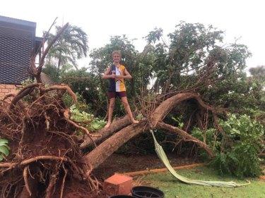 Wendy Van Dongen took this photo in Karratha during the yellow alert on Saturday.