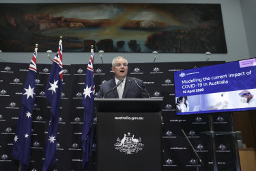 Australian Prime Minister Scott Morrison provides an update on the government's response to the COVID-19 pandemic.