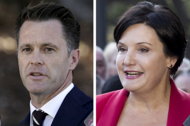 Vying for NSW Labor leadership: Chris Minns and Jodi Mckay.