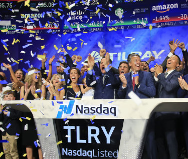 Tilray shares are up more than 24 per cent after the deal.