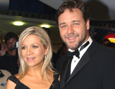 Great divorce sale: Russell Crowe and his wife Danielle Spencer.