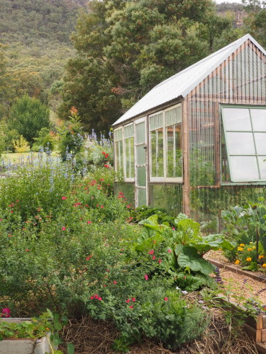 The greenhouse at Hartvale.