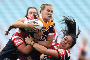 Brigginshaw was crowned the Dally M female player of the year on Monday.