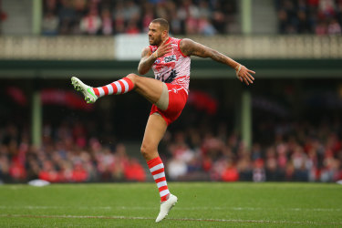 Lance Franklin has never been more accurate in front of goal than in 2021.