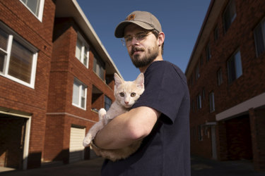 Callum Klein adopted his kitten, Cashew, during the pandemic.