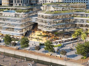 The concept designs include a wider promenade and new public square to address criticism the complex lacked open space.