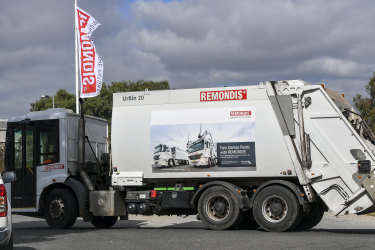 A Remondis truck leaves the Coolaroo plant.
