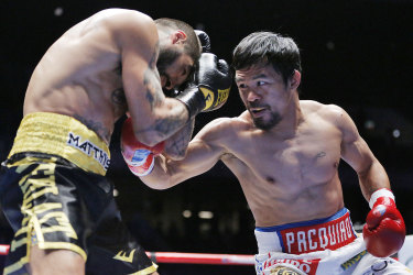 Back in form: Manny Pacquiao scored his first knockout victory in nearly a decade.