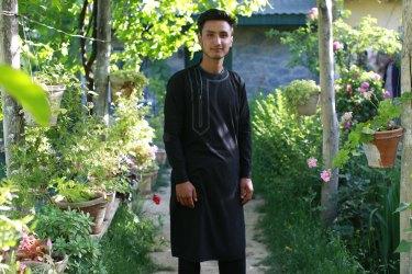 Hamidullah in his garden in Parwan (in Kabul), 2017, from the book <i>War Gardens<'i>.