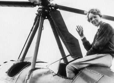 American aviator Amelia Earhart, circa 1935.
