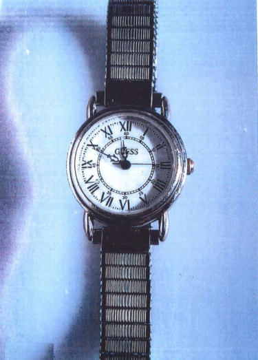 Jane Rimmer's Guess watch. She was last seen wearing it on the night of her abduction in June 1996.