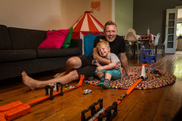 e75978c1b0274 Stay at home dad Nick Breckon is relishing his time at home with son Max