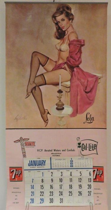 An advertising calendar for Totem soft drinks.