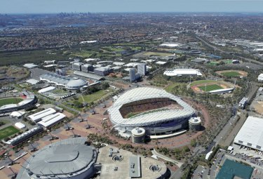 The Homebush stadium, in Sydney's west.