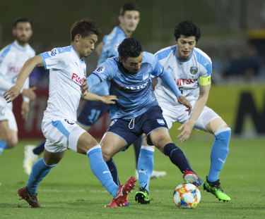 Backing up: Reza Ghoochannejhad was one of four players involved in Sunday's A-League grand final who featured on Tuesday night.