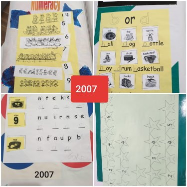 An example of Jake's schoolwork in 2007, when he was in primary school at Southern Autistic.
