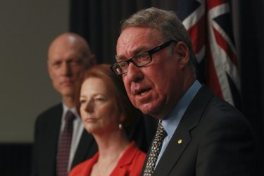 Julia Gillard with David Gonski, who she commissioned to do a review of education funding.
