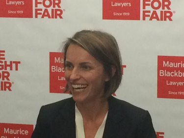 Rebecca Gilsenan from law firm Maurice Blackburn, after a previous victory in the High Court of Australia.