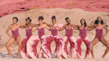 The centuries-long fight against women's shame has included, in recent years, pants in the shape of labia, worn by American singer Janelle Monae, centre, in the video for her hit song, Pynk.