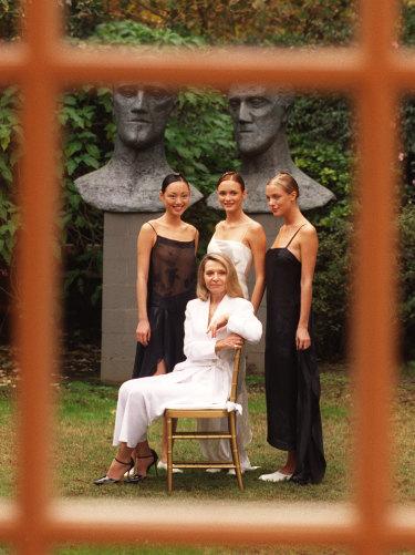 Carla Zampatti and models. May 4, 1998.