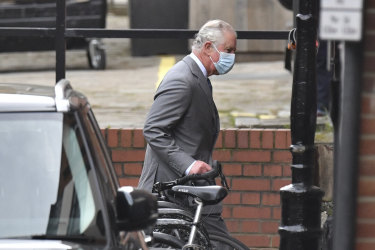 Prince Charles arrives at the King Edward VII's hospital in London to visit his father.