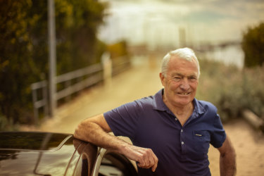 Peter Hewitt prefers using his own car to get around.