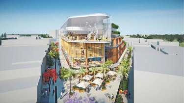 An artist's impression of the contentious redevelopment of the Whistler Street car park in Manly.