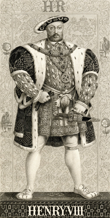 """Henry 8th's bulbous """"bear paw"""" slippers and shoes were cut to fit his gouty feet."""