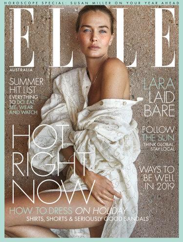 Lara Worthington on Elle Australia's latest cover