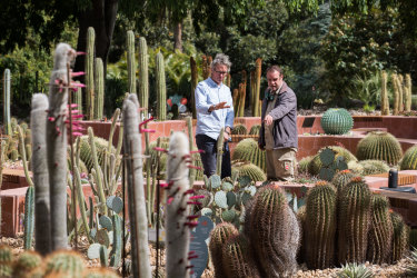 Andrew Laidlaw and Bret Pritchard in the new Arid Garden.