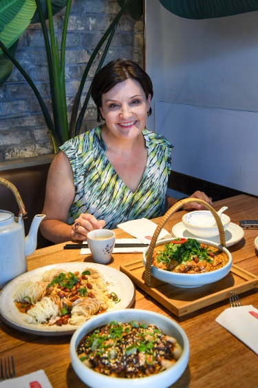 NSW Opposition Leader Jodi McKay lunches at Spicy Joint at Burwood.