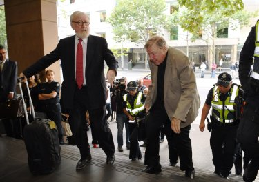 Robert Richter QC with his client, Cardinal Pell.