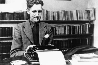 Literary cold warrior George Orwell.