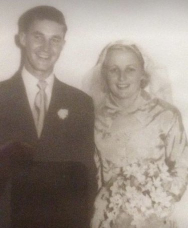 Sydney grade cricketer Keith Sheffield and his wife Barbara in Sydney the 1950s.