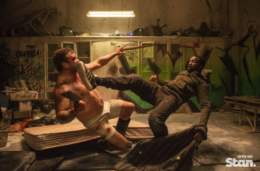 One of the stylised fight scenes in <i>Gangs of London</i>.