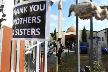 Taj Mohammed Kamra, a survivor of the Christchurch mosque attacks at Masjid An-Nur mosque in Christchurch, New Zealand.