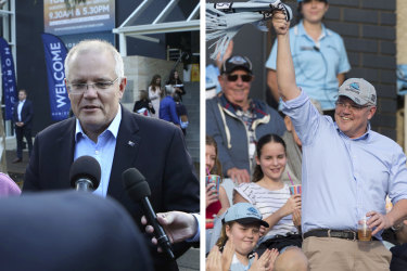 Prime Minister Scott Morrison spent Sunday attending church and the NRL game between the Cronulla Sharks and the Manly Sea Eagles.