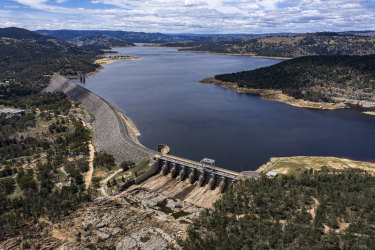 Wyangala Dam in central NSW is currently about 60 per cent full. The federal and NSW governments want to increase the dam's capacity to boost water security in the Lachlan Valley, although a cabinet document suggests the gains will not be significant despite the hefty price tag.