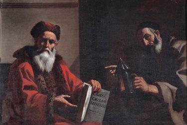 Diogenes and Plato, 1649. Found in the collection of the Musei Capitolini, Rome.
