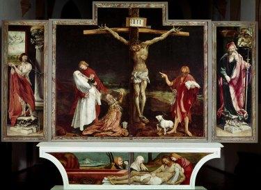 Isenheim altarpiece, by German painter Matthias Grunewald.