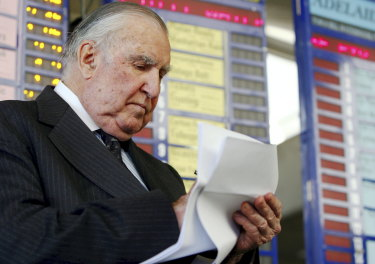 Bill Waterhouse at Rosehill in September 2009. He retired as a bookmaker the following year.