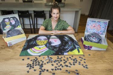 "Melbourne lawyer Nicola Caras makes puzzles aimed at an adult market that doesn't want a ""daggy"" landscape."