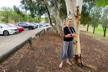 The Belconnen Community Council, including secretary Bronwyn Vincent, pictured above, is concerned about the loss of open space resulting for the planned expansion of Kippax Fair shopping mall.