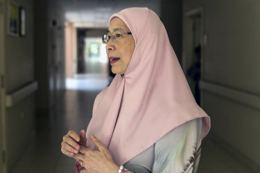 """It's a bit surreal"": Wan Azizah Wan Ismail speaks to Fairfax Media at the Kuala Lumpur hospital where her husband is admitted for shoulder surgery."