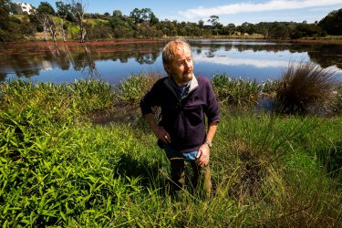 """""""The consultation process has been largely a public relations exercise"""": Friends of Banyule president Dennis O'Connell, pictured at the Banyule Flats."""
